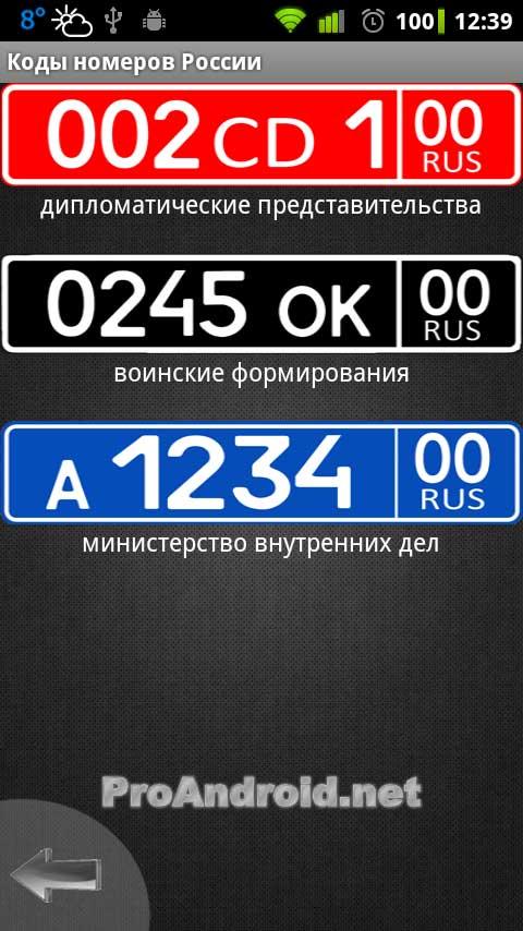скачать регионы россии по номерам