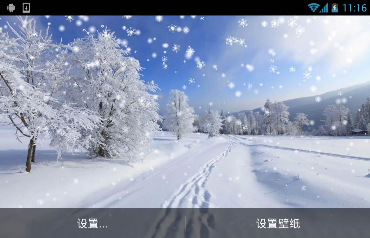 winter snow live wallpaper android